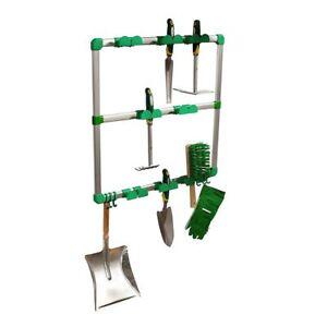 scaffale porta attrezzi ed utensili da giardino 60 x 60 cm - Mobile Rastrelliera