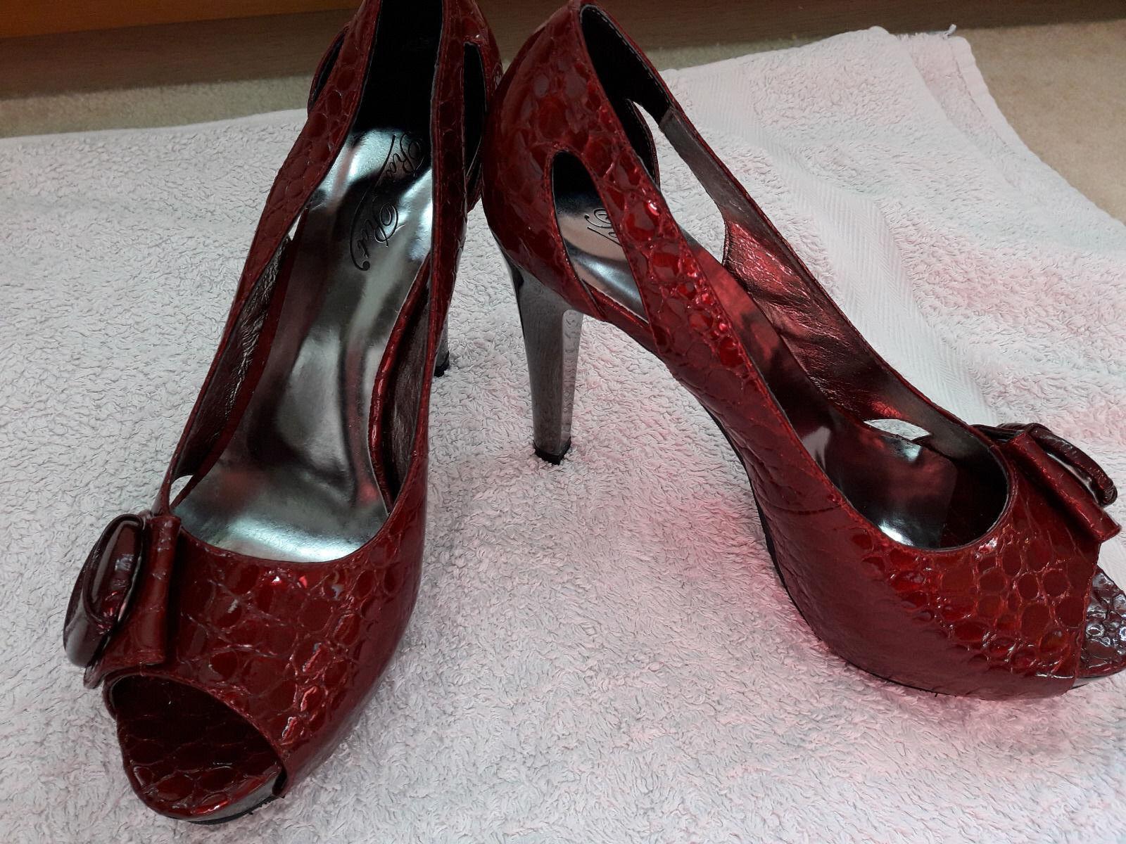 Rosa Rot Damen Schuhe / High Heels / Plateau / Pumps Gr. 38