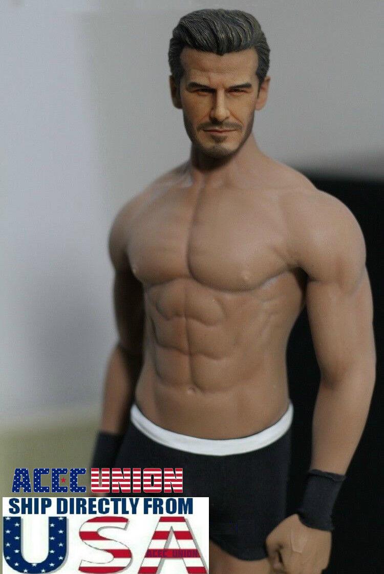 1/6 David Beckham con Phicen M33 1/6 Conjunto de cuerpo sin costuras Masculino Muscular U.s.a.