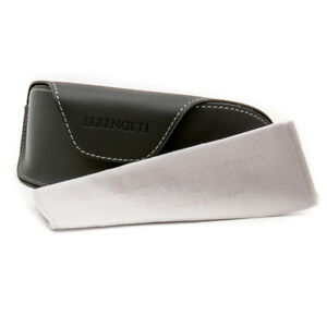 Serengeti-Sunglasses-Carrying-Case-amp-Serengeti-Cleaning-Cloth-Authorized-Dealer
