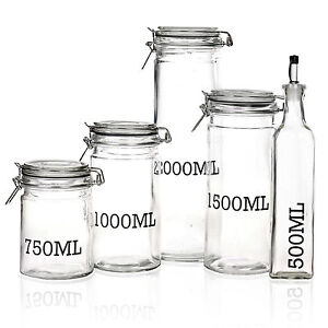 Image Is Loading Large Gl Storage Jar With Air Sealed