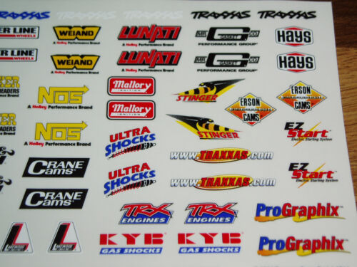 RC CAR DECALS//STICKERS 1//8-1//10 VATERRA V100//DRAGSTER//HPI SPRINT 2//TRAXXAS SLASH