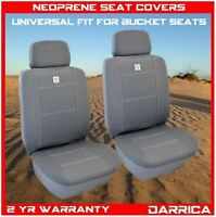 Neoprene Car Seat Covers Universal Fit Front Pair Waterproof Grey And White
