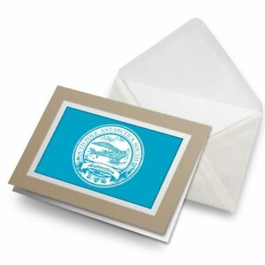 Greetings-Card-Biege-Antarctica-South-Pole-Travel-Stamp-5942