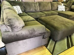 Strange Details About Ashley Jesss 4 Piece Sectional Used Dark Brown 3 Piece Plus Ottoman Pabps2019 Chair Design Images Pabps2019Com