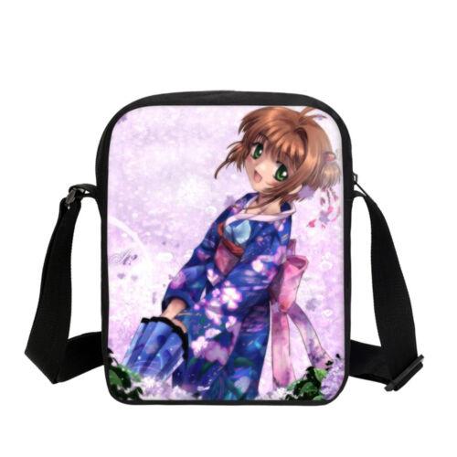 Sakura Anime Kid/'s Cartable Fille Grand Sac à dos Cross Body Bags Trousse Lot