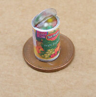 1:12 Open Tin Of Fruit Cocktail Dolls House Miniature Kitchen Food Can Accessory