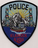 "*NEW*  Klawock, AK (4"" x 5"" ) shoulder police patch (fire)"