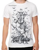 The Nightmare Before Christmas-20th Anniversary-unisex-sketch T Shirt-disney