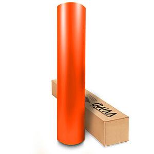 VViViD Orange Matte Satin Vinyl Wrap Air Release Technology MOR5M01 2ftx5ft