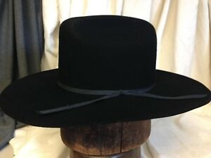 7552dd808 Details about Bee Hats Co. 2X Fur blend Custom Made Mens Black Cattleman  Cowboy Hat - Size 7