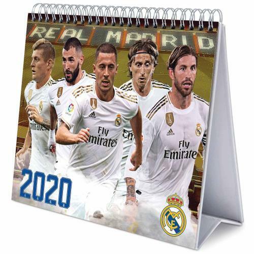 2020 Desktop Desk Calendar Official Football Team Month to View Soccer Hard Back