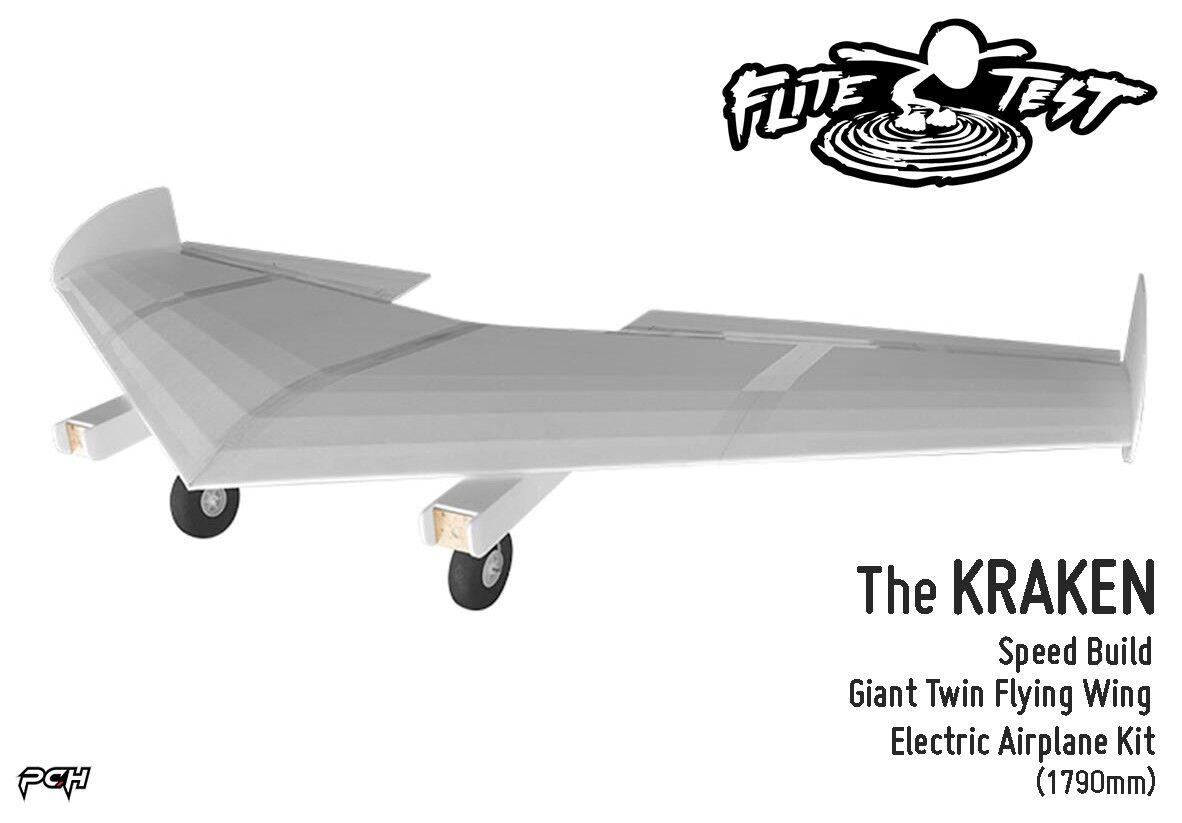 FLITE TEST KRAKEN Electric Giant Twin Flying Wing Airplane Kit (1790mm) FLT-1021