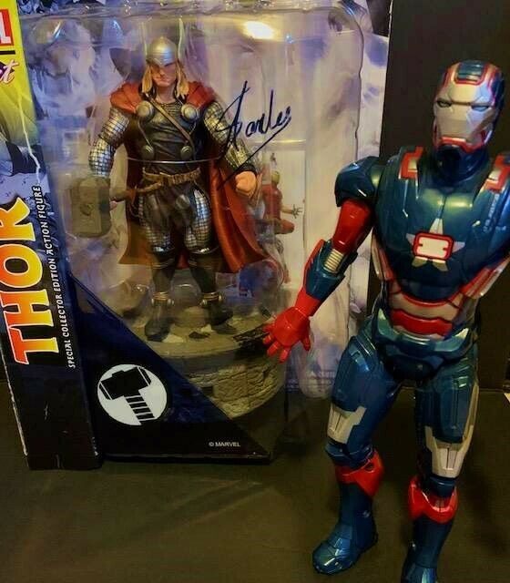 Stan Lee Signed Marvel Select cifra e Marvel Legends Iron Patriot  Gift Idea