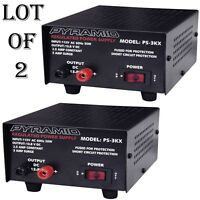 2 Lot) Pyramid Ps3kx 3amp 12volt Dc Power Supply For Phones Cb Ham Radio Scanner on sale