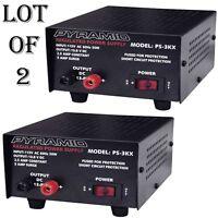 2 Lot) Pyramid Ps3kx 3amp 12volt Dc Power Supply For Phones Cb Ham Radio Scanner on sale