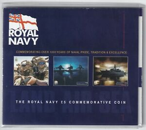 2003-Jersey-039-The-Royal-Navy-5-Commemorative-Coin-039-Pack-Coins-KM-Coins