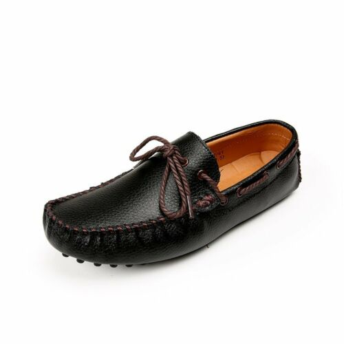 Men Driving Shoes Slip On Loafers Moccasins Casual Driving Soft Bow Pumps 01