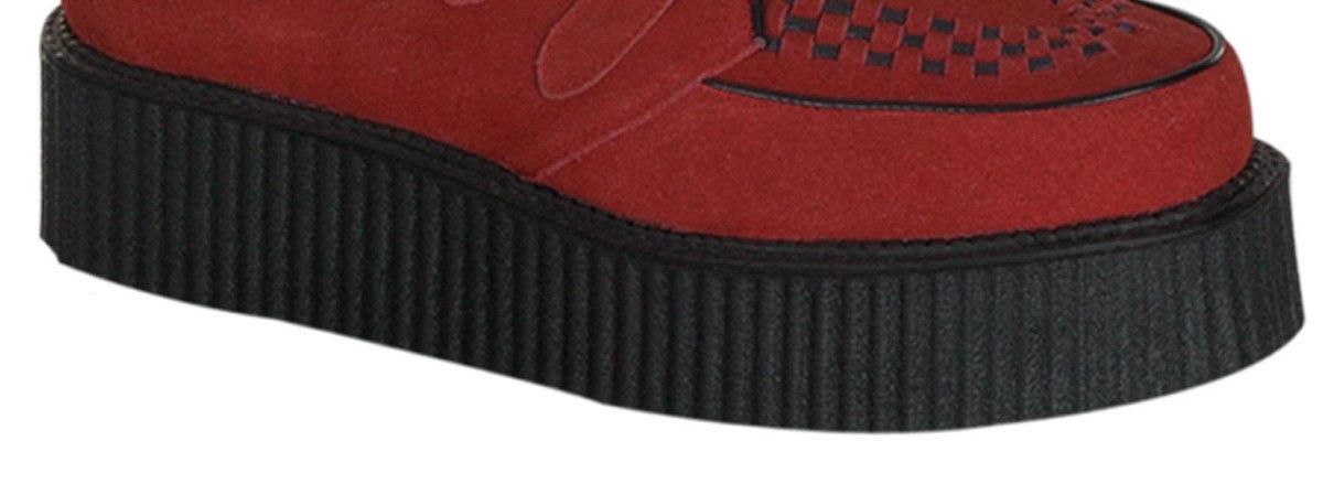 Demonia Creeper 402 Hi Red Suede Unisex Creepers Hi 402 Sole Shoes Punk Rock f0ccff