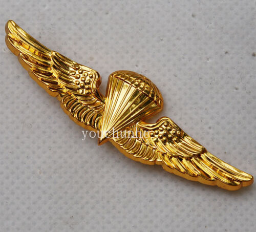 US U.S Navy Parachute Parachutist Landings Wings Badge Pin Gold-US197