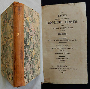 P-THE-LIVES-OF-ENGLISH-POETS-Samuel-Johnson-1815-Blackmore-Fenton-Savage