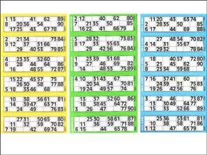 Bingo Tickets Books Slips Game Strips Edible Cake Topper