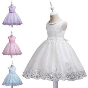 Girls-Bridesmaid-Dress-Baby-Flower-Kids-Party-Bow-Wedding-Tutu-Dresses-Princess