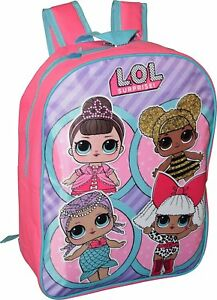 Image is loading LOL-Surprise-Girls-Backpack-15-034-School-Knapsack- a0953f4266
