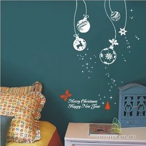 Christmas-Decoration-Vinyl-Wall-Art-Stickers-Christmas-Wall-Glass-Decal-PD516