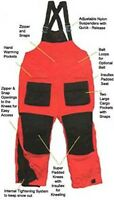 Arctic Armor Floating Extreme Weather Bibs Red Large