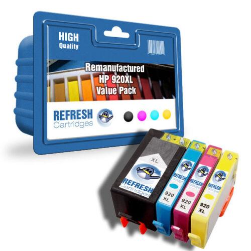 Refresh Kartuschen 4 Pack 920xl Kompatibel mit hp Drucker