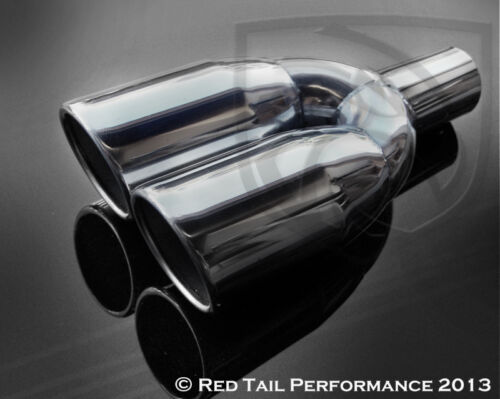 "Exhaust Muffler Tip Dual Round 3.5/"" OD Angled Rolled 2.25/"" ID /& 12.5/"" Long"
