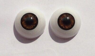 Amichevole Bambole Reborn Occhi Semicircolare Acrilico 20 Mm Bellissima Brown Uk Venditore-mostra Il Titolo Originale