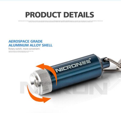 Nicron 2PCS 10LM Mini KeyChain Waterproof LED Flashlight Pocket Torch Lamp N1.1