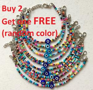 Image Is Loading Turkish Handmade Colorful Beads Bracelets Evil Eye Bead