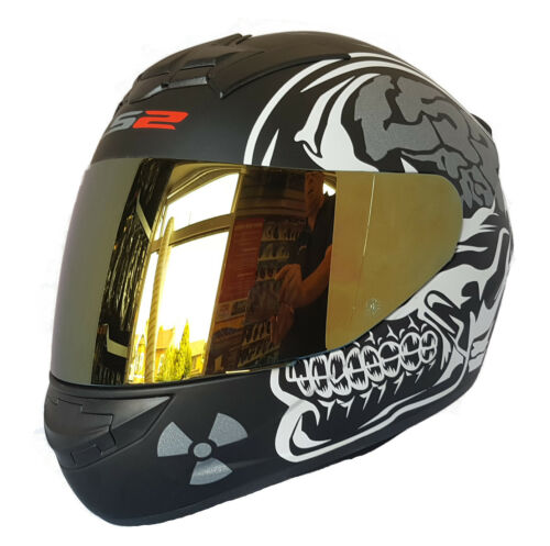 Ls2 FF352 X-Ray Rookie Completo Casco de Moto con Visera Iridium Oro