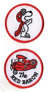 OPERATION IRAQI  FREEDOM SNOOPY FLY BOY PILOT THE RED BARON IRON-ON PATCH SET