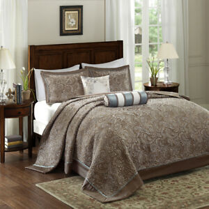 BEAUTIFUL ELEGANT CHIC XXL IVORY WHITE CLASSIC FITTED SOFT BEDSPREAD QUILT SET
