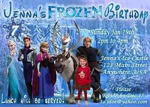 Frozen Personalized Photo Birthday Invitations 4x6 Or 5x7 Ebay
