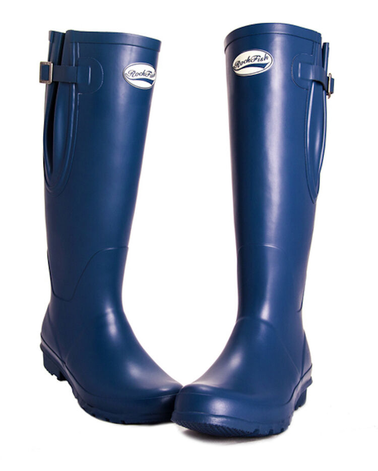 Shires Original Tall Matt Adjustable Wellington Boot-Navy-9