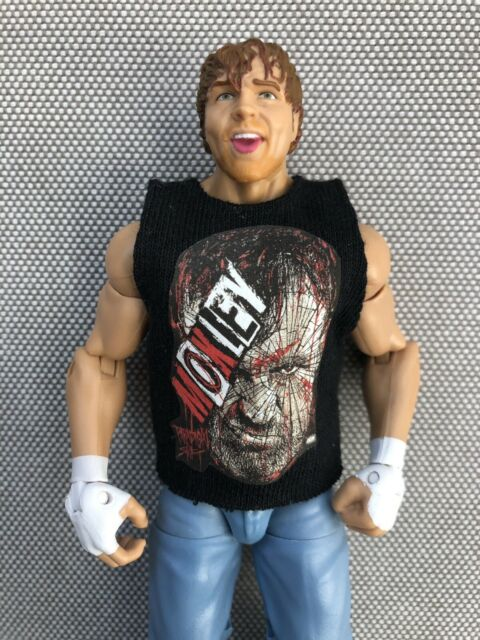 WWE Mattel Elite Dean Ambrose Loose Figure with Jon Moxley AEW Shirt