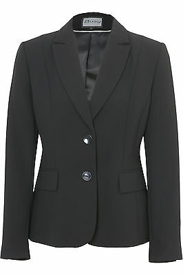 Busy Black Ladies Suit Jacket, Sizes 10 to 26