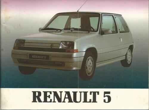 RENAULT R 5 R5 Betriebsanleitung 1991 Bedienungsanleitung Handbuch Bordbuch BA