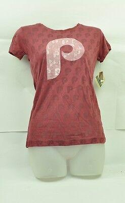 Mlb Philadelphia Phillies Red Jacket Damen Medium T-shirt Kurzärmelig Weinrot Halten Sie Die Ganze Zeit Fit Weitere Ballsportarten Sport