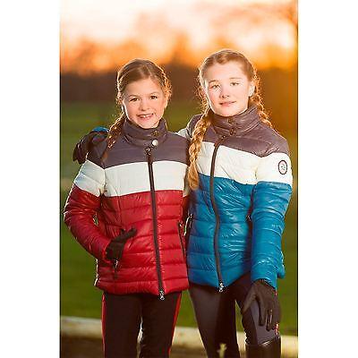 Hkm Pro Team Junior 3 Colori Dinamici Spessa Fodera Trapuntata Giacca Equitazione Comfort-