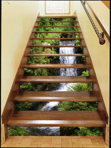 Details about  /3D Stream Lush forest Risers Decoration Photo Mural Vinyl Decal Wallpaper US
