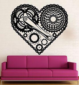 Wall Sticker Vinyl Decal Heart Love Steampunk Engine Mechanical Bike (ig2195)