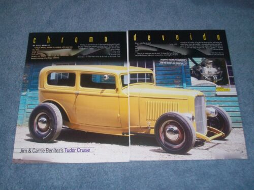 "1932 Ford 2Door Sedan Hot Rod Article ""Chromo Devoido"""