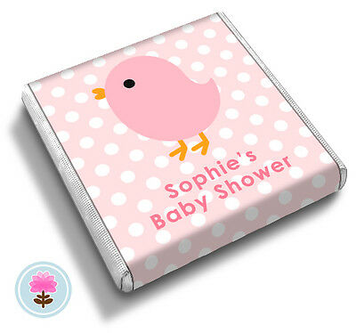 Personalised BIRD Baptism Christening Shower ANY OCCASION FAVOUR CHOCOLATES
