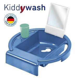 Rotho-Baby-Kiddy-wash-Kinder-Waschbecken-fuer-Badewannenrand-cool-blue-NEU